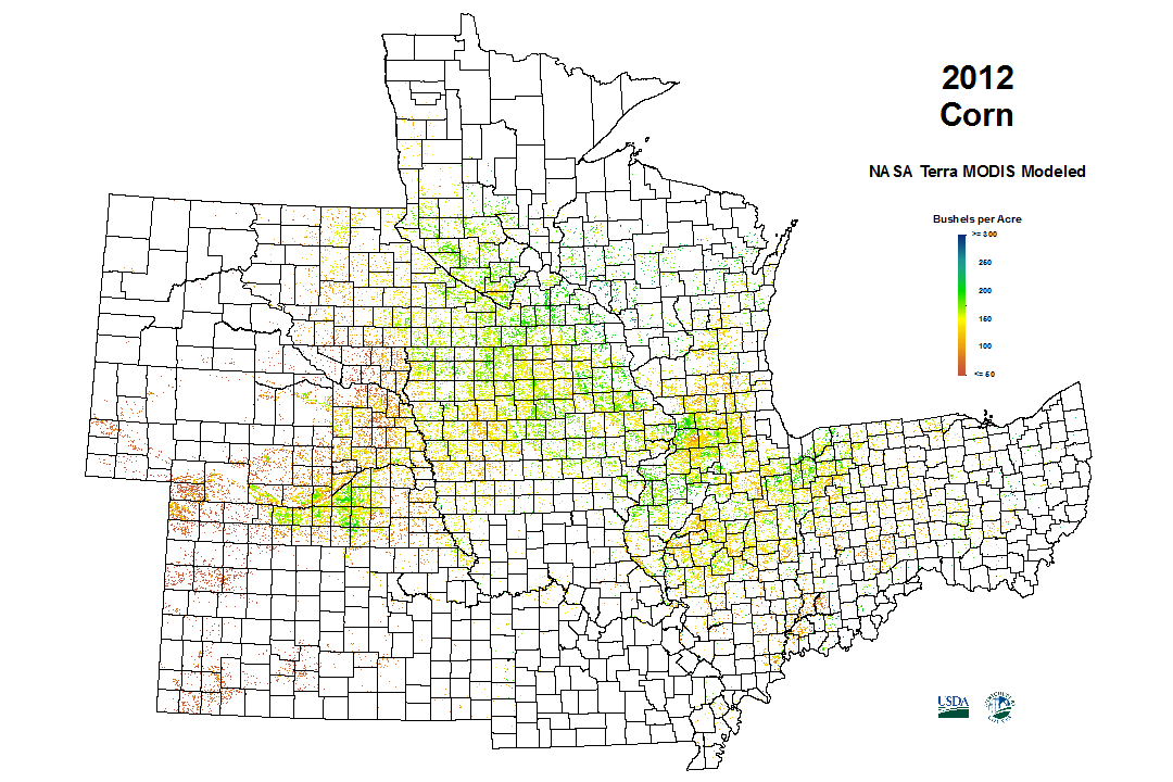 2012 Corn Yield from USDA