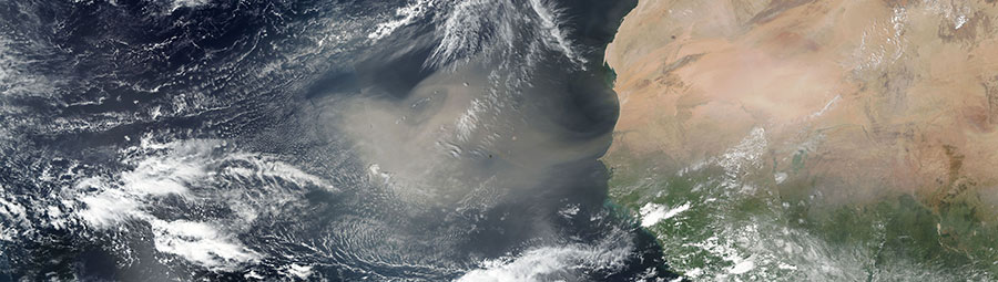 Dust Storm off the coast of West Africa on 15 October 2017 (Suomi-NPP/VIIRS)