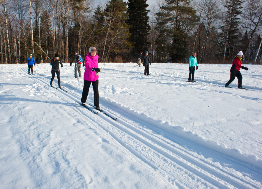 Photograph of cross-country skiers