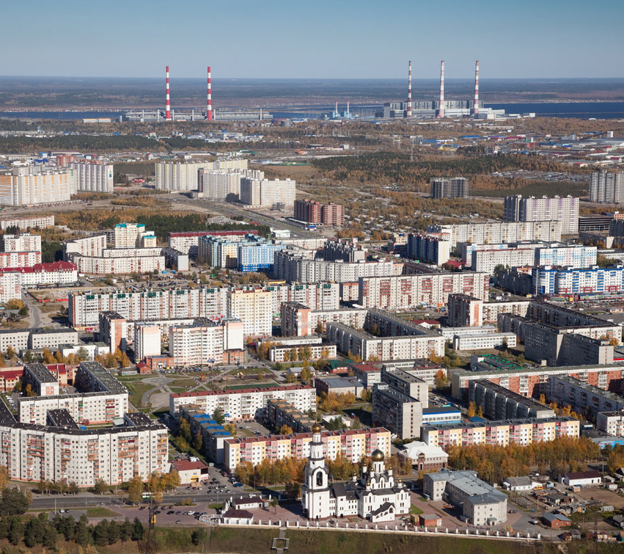 Aerial photograph of Surgut, Russia