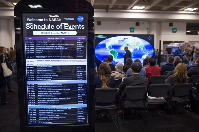 NASA Booth schedule