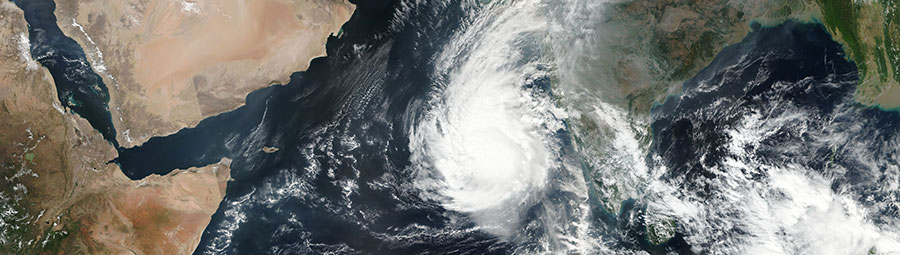 Tropical Cyclone Ockhi in the Arabian Sea on 3 Dec 2017 (Suomi-NPP/VIIRS)