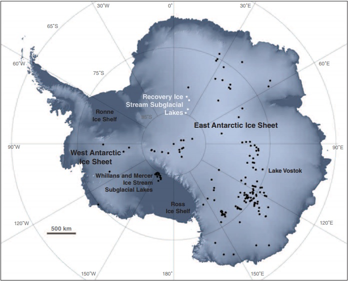 subglacial lake map