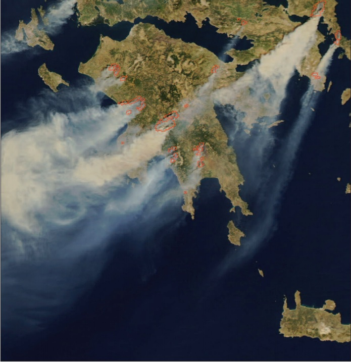 MODIS Greece forest fires