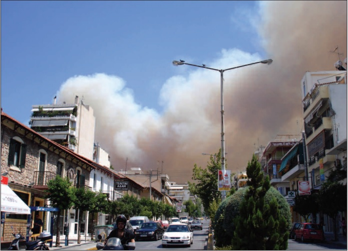 Mount Hymettus fire