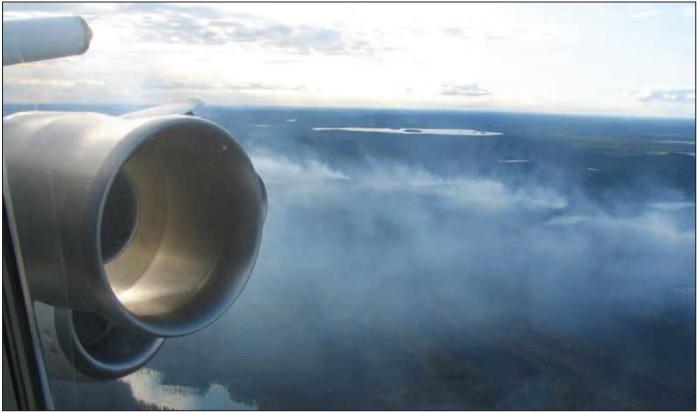 DC8 smoke plume