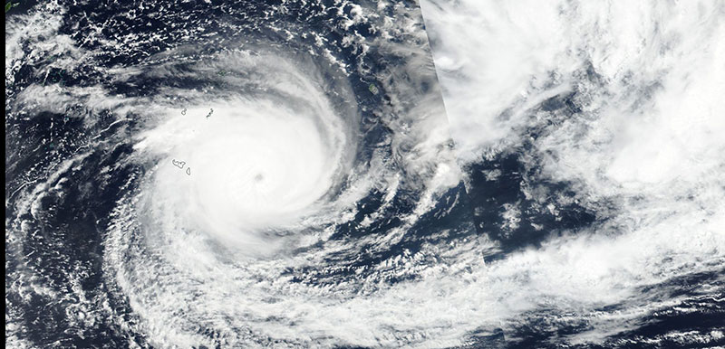 Cyclone Gita in the South Pacific Ocean on 11 February 2018 (VIIRS/Suomi-NPP)