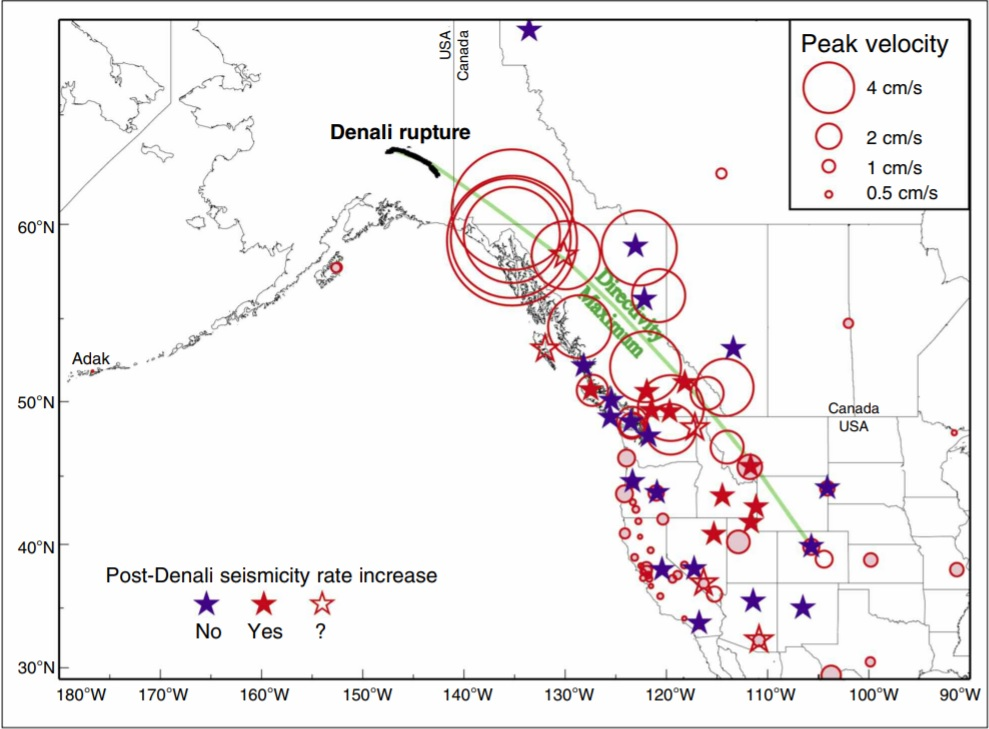 Denali earthquake seismic measurements
