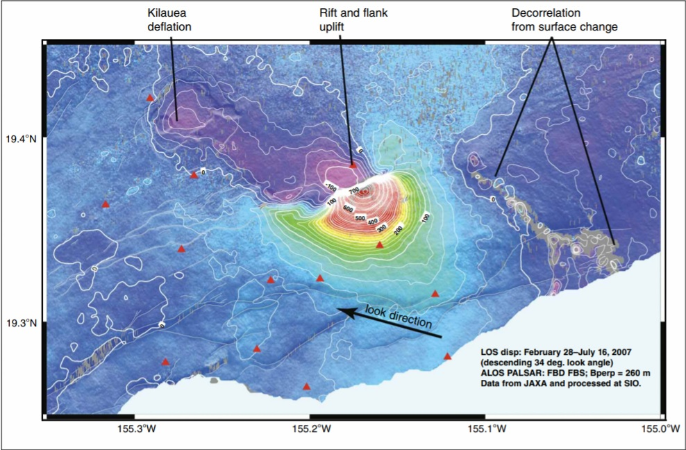 Kilauea Volcano SAR GPS