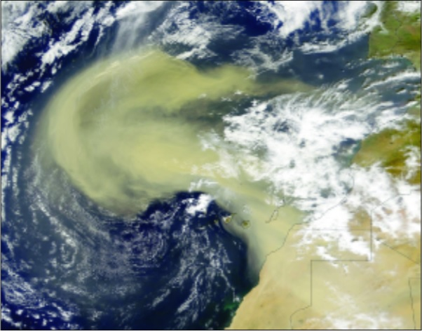 dust storm over Africa