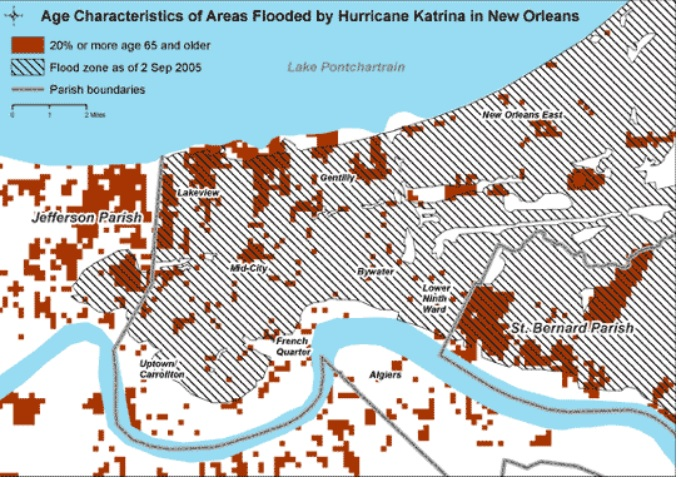 New Orleans flood data