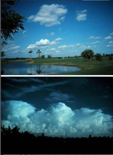 cumulus cumulonimbus