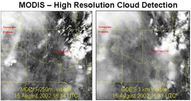 MODIS GOES cloud detail