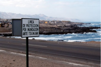 tsunami warning Antofagasta