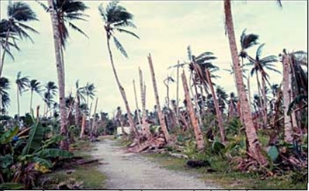 Caroline Islands typhoon