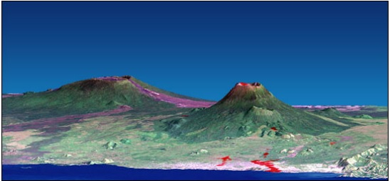 Landsat elevation model