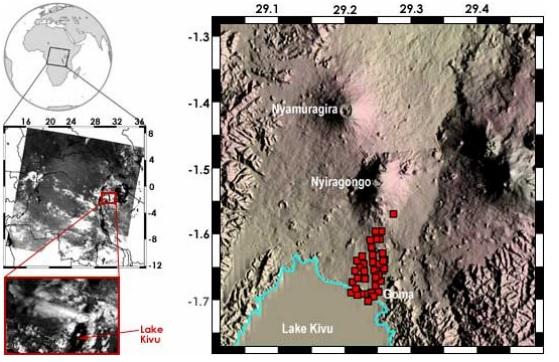 MODIS Nyiragonga Volcano