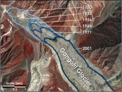 ASTER Gangotri Glacier