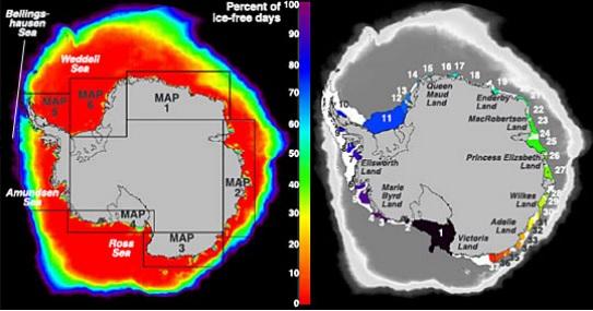 Antarctica polynyas map