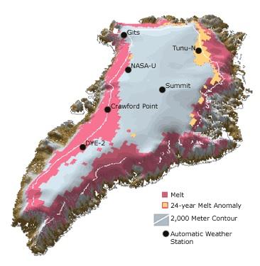 Greenland 2002 ice melt