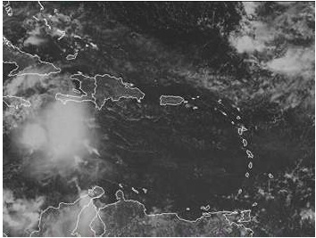 GOES clouds Puerto Rico