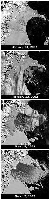 MODIS Larsen B disintegration