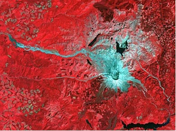ASTER false color Mount St Helens