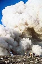 steam and ash cloud Mount Semeru