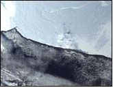 Ross Ice Shelf B15 calving