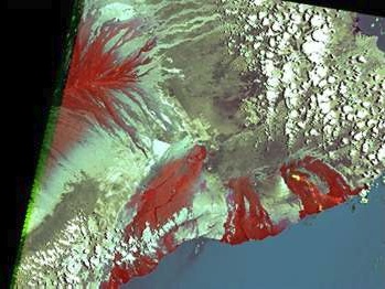 false color Mount Kilauea