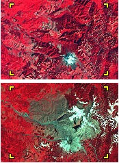 Landsat Mount St Helens false color
