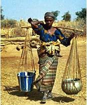 Nigerian woman water