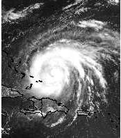 Hurricane Bonnie GOES-8