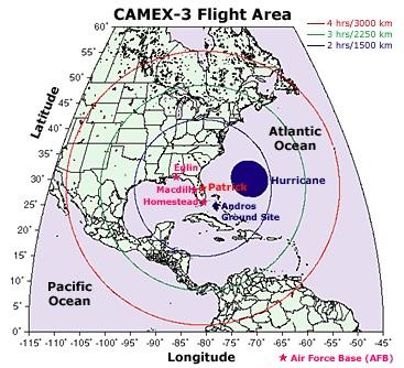 CAMEX-3 mission range