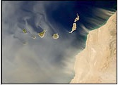 Canary Islands dust storm