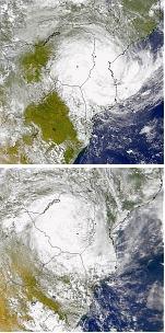 Cyclone Eline landfall