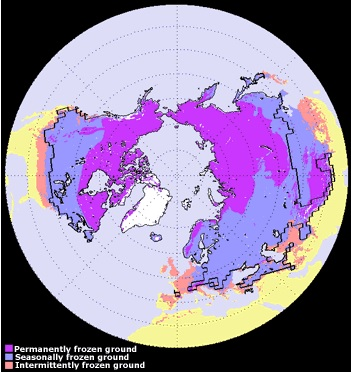 permafrost distribution