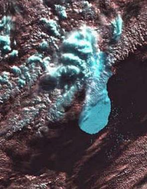 Landsat 7 Iceberg B10A