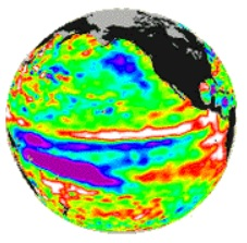 mild El Nino temperatures