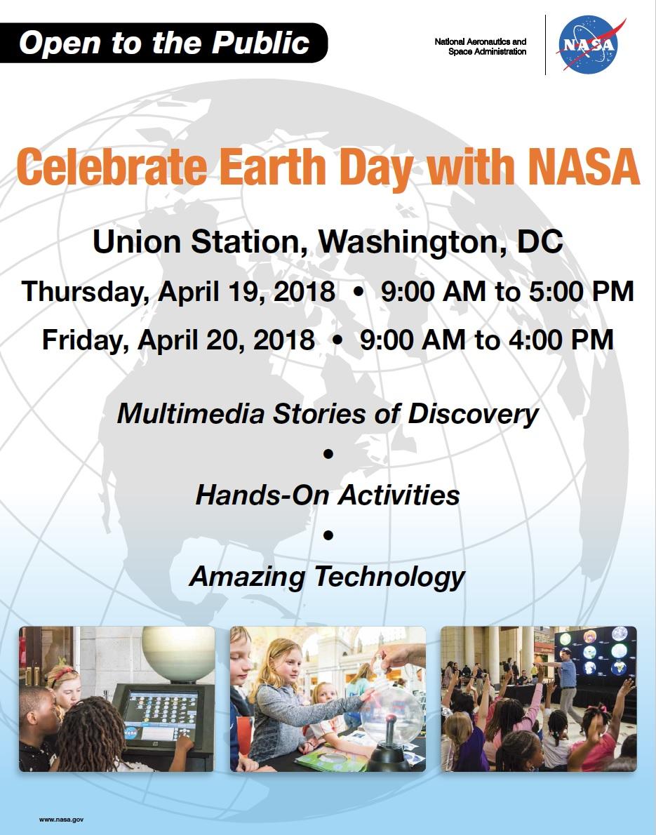 NASA 2018 Earth Day flyer
