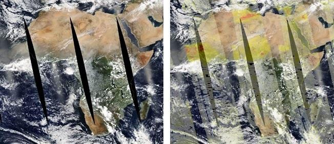 Aqua MODIS + AOD image