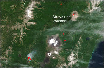 Sheveluch Volcano and other thermal anomalies