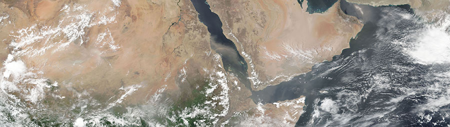Dust Storm over the Red Sea on 24 June 2018 (VIIRS/Suomi-NPP)