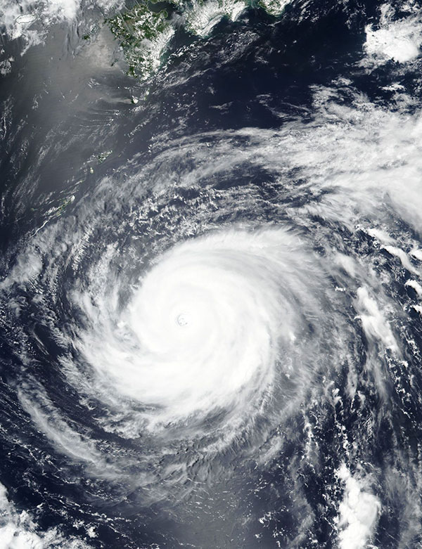 Super Typhoon Maria on 9 July 2018 (Suomi-NPP/VIIRS)