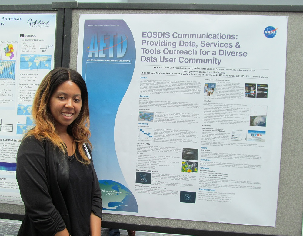 ESDIS Project Office intern Mauricia Brown