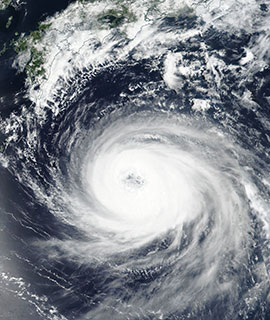 Typhoon Soulik on 20 August 2017 (Suomi-NPP/VIIRS)