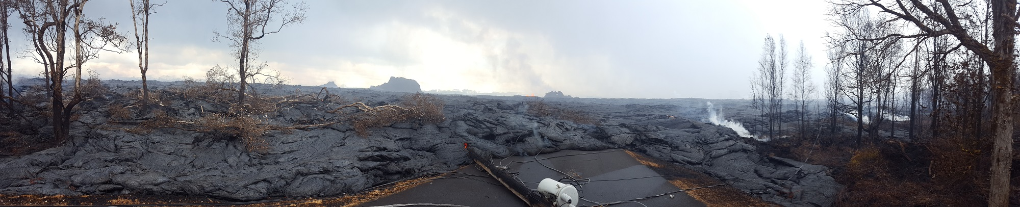 Image of lava flows taken by Dr. Ramsey.