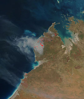 Fires in NW Australia on 25 August 2018 (Suomi-NPP/VIIRS)