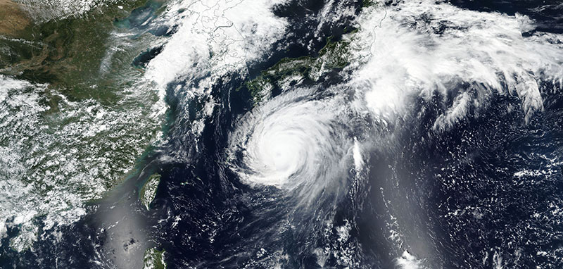 Super Typhoon Jebi on 3 September 2018 (Suomi-NPP/VIIRS)